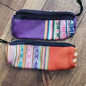 Handbags - Set of 2 handcrafted makeup or pencil bag